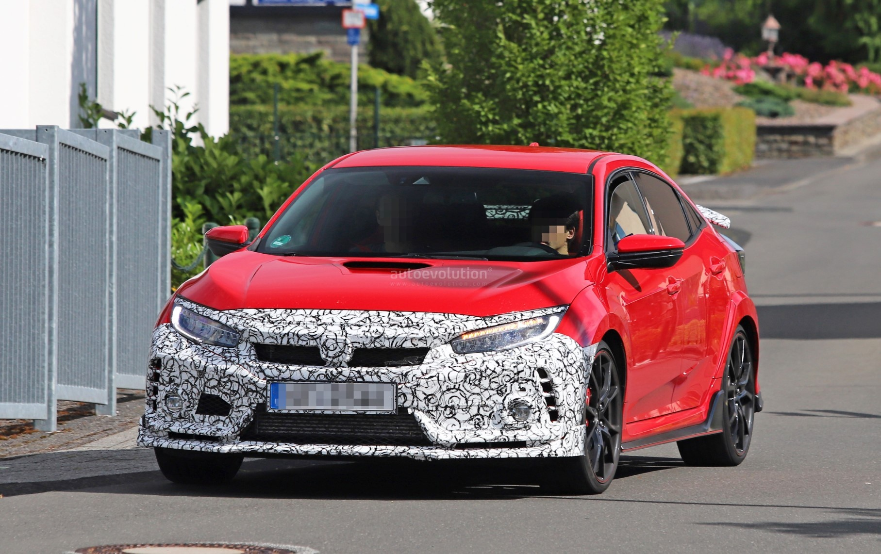 2019 Honda Civic Type R Spied In Red Differs From White Painted
