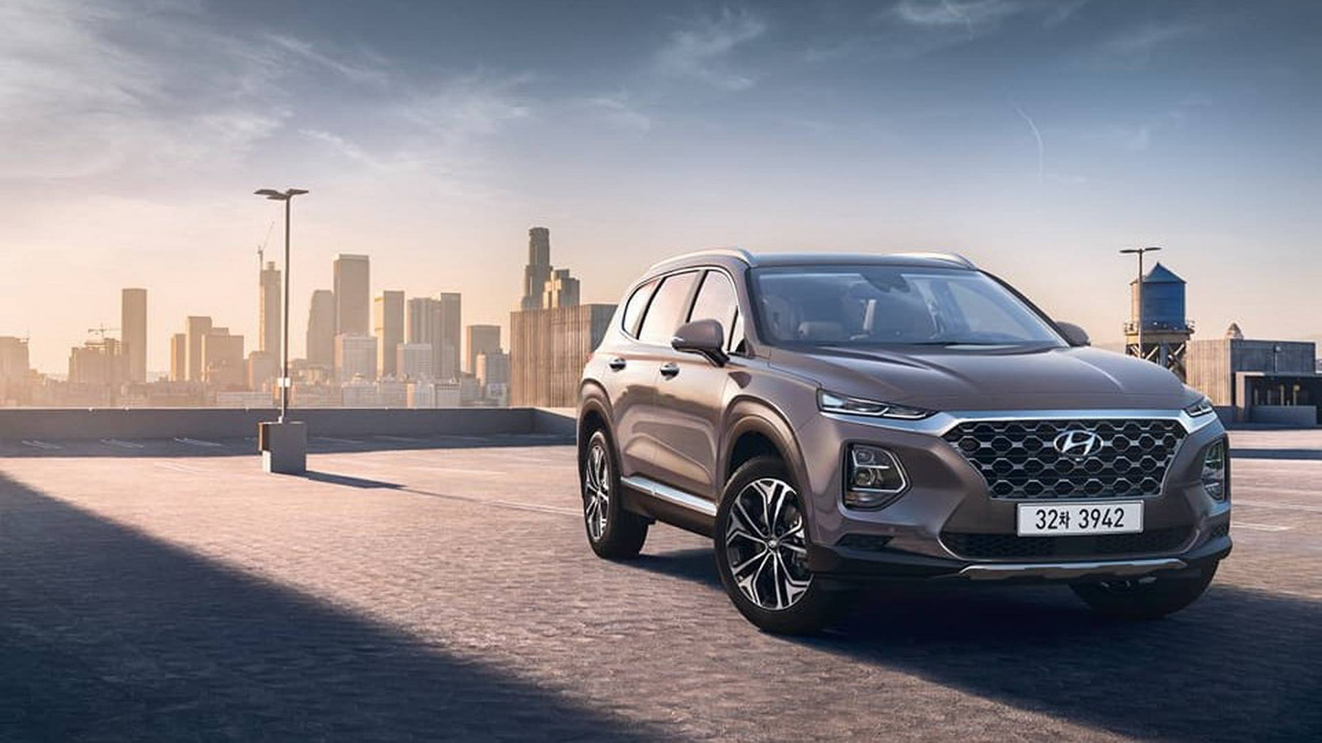 2019 hyundai santa fe official images reveal a completely. Black Bedroom Furniture Sets. Home Design Ideas