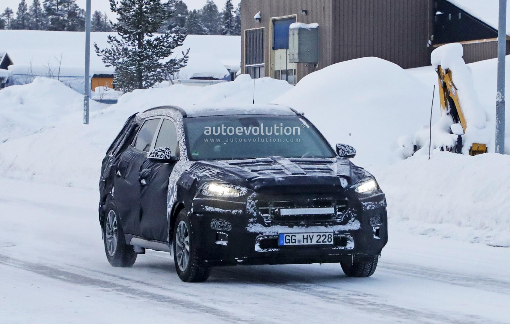 2019 Hyundai Tucson Facelift Spied Undergoing Winter