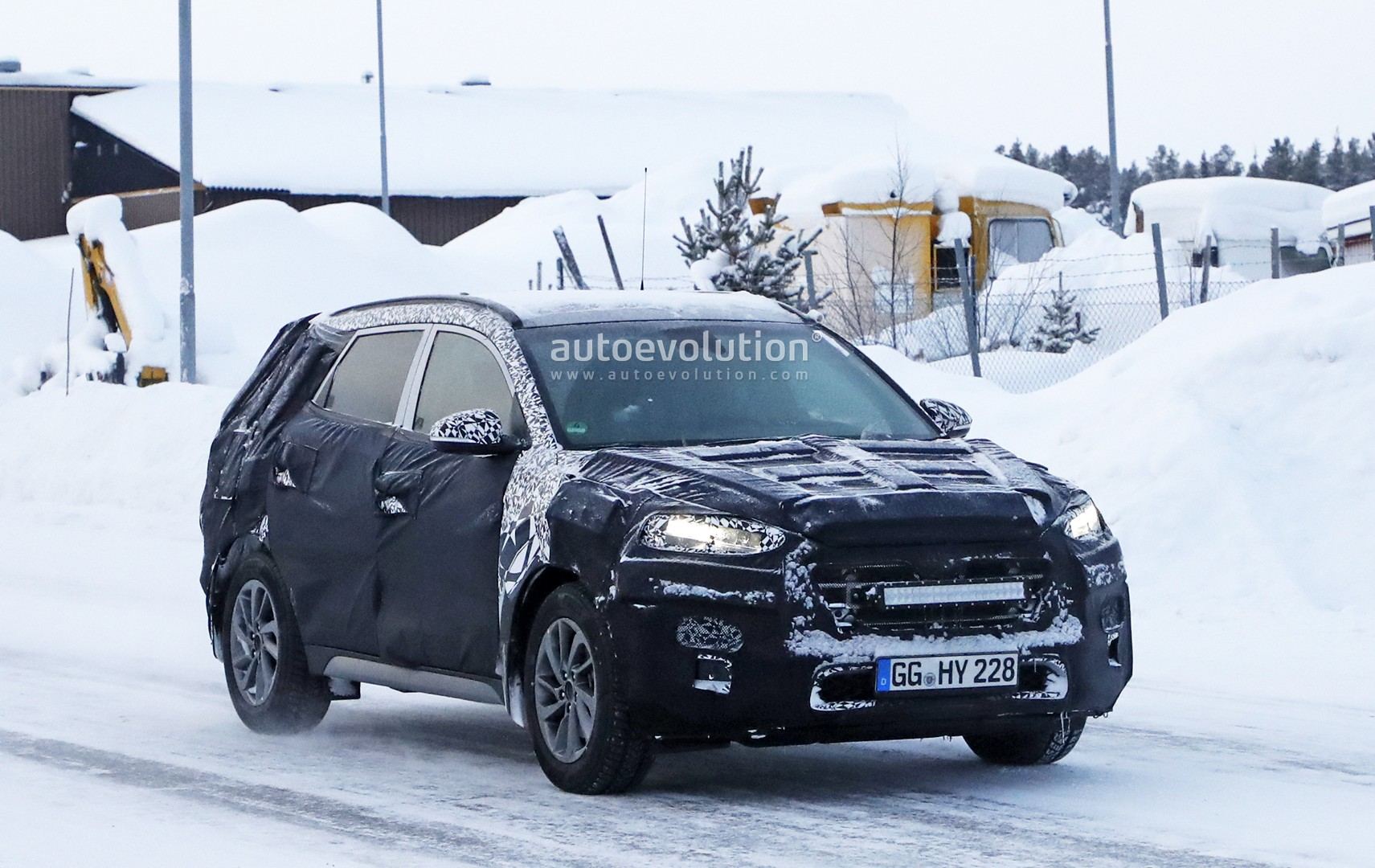 2019 hyundai tucson facelift spied undergoing winter testing autoevolution. Black Bedroom Furniture Sets. Home Design Ideas