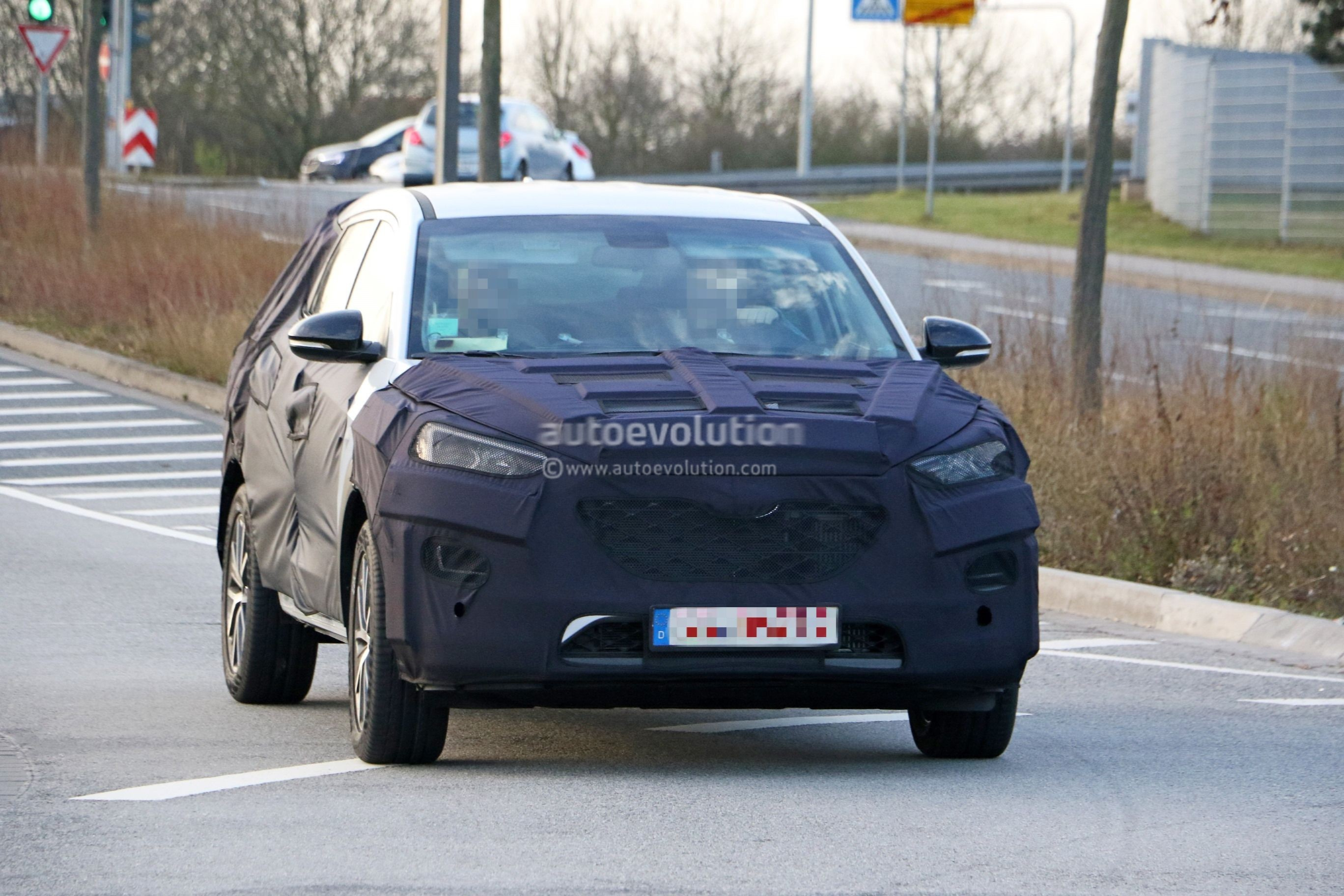 2019 hyundai tucson spied testing in germany autoevolution. Black Bedroom Furniture Sets. Home Design Ideas