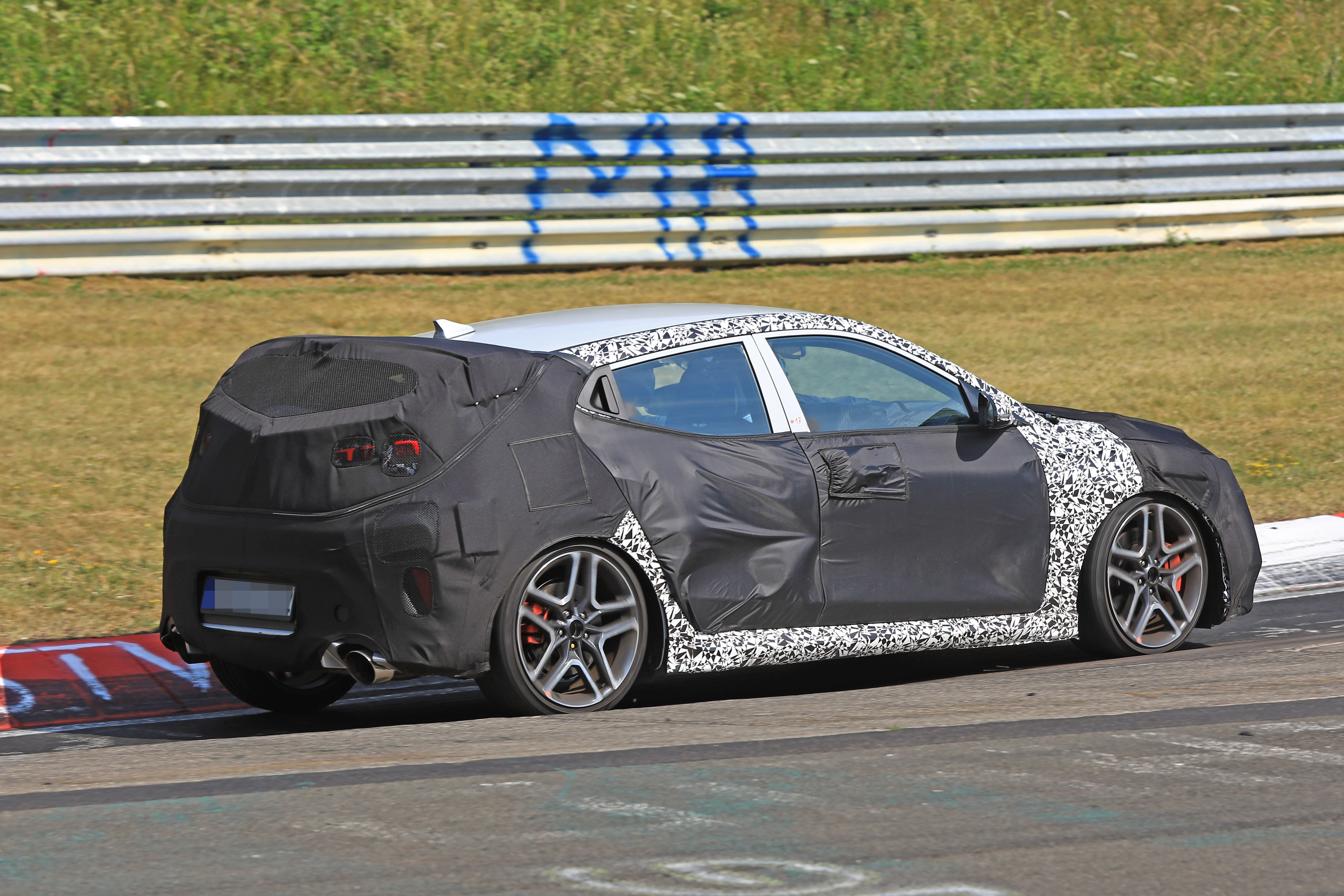2019 Hyundai Veloster N Spied with Massive Exhaust Pipes