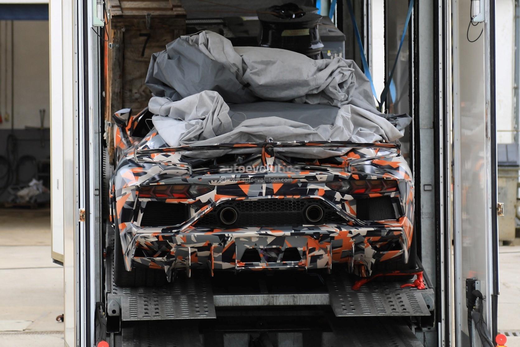 2019 Lamborghini Aventador Svj Looks Serious On Aero In