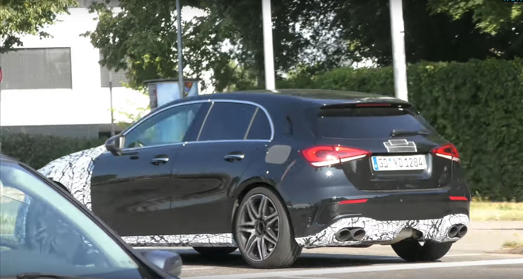 2019 mercedes amg a45 a50 spied testing in right hand drive autoevolution. Black Bedroom Furniture Sets. Home Design Ideas