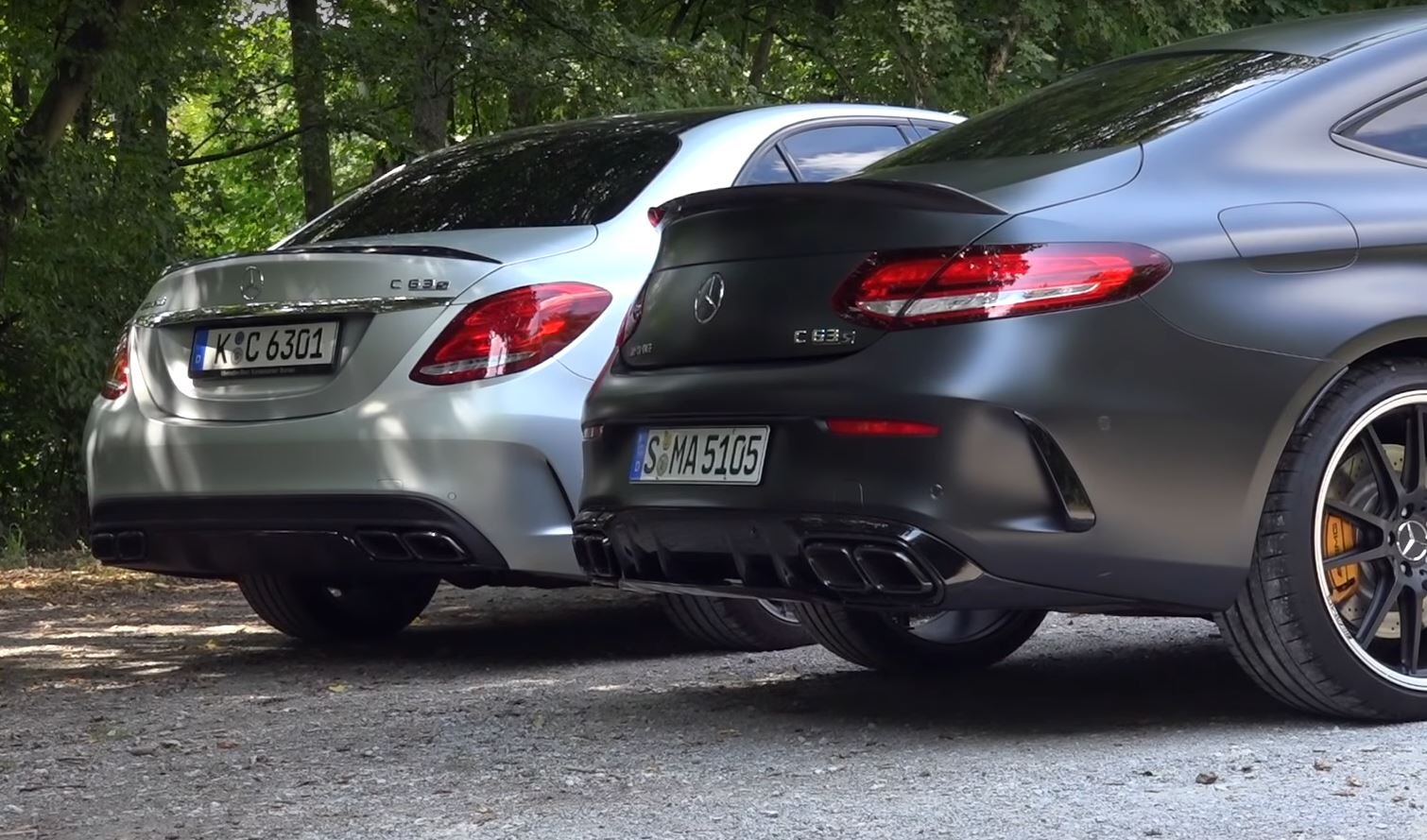 2019 Mercedes-AMG C63 S Coupe vs  2018 C63 S Sedan Exhaust