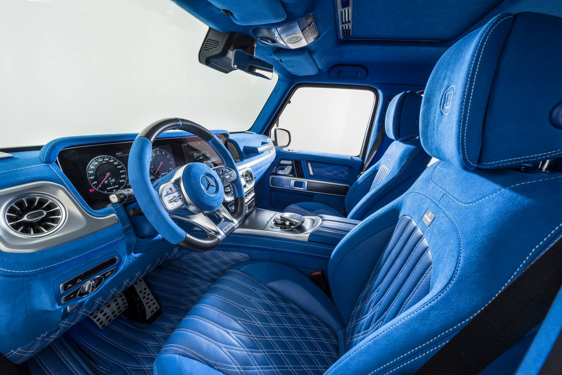 2019 Mercedes Amg G63 Looks Amazing In Brabus Blue Leather