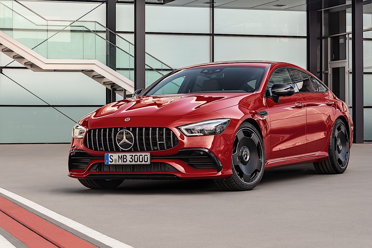 2019 mercedes amg gt 4 door coupe get new entry engine. Black Bedroom Furniture Sets. Home Design Ideas