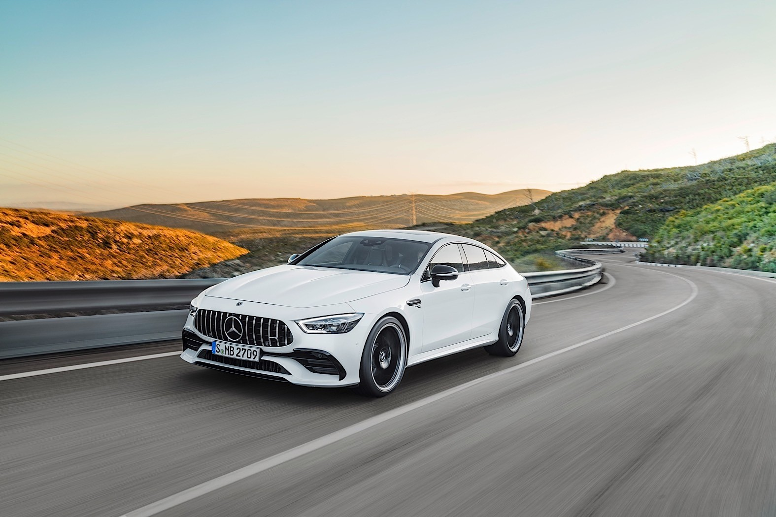 2019 mercedes amg gt 4 door coupe goes live in geneva for Mercedes benz 4 door