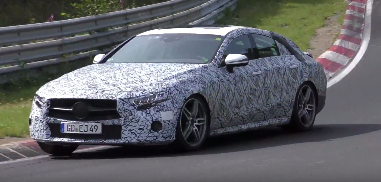 2019 Mercedes AMG GT Four Door Chases 2018 Mercedes CLS On Nurburgring ...