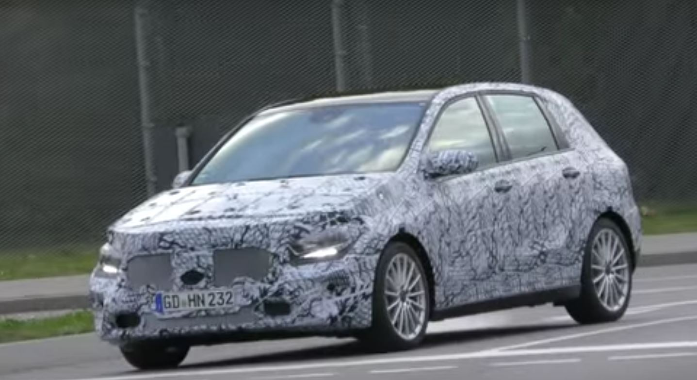 2019 mercedes b class spied for the first time while. Black Bedroom Furniture Sets. Home Design Ideas