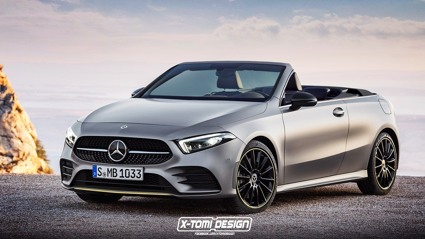 2019 mercedes benz a class coupe and cabrio renderings. Black Bedroom Furniture Sets. Home Design Ideas