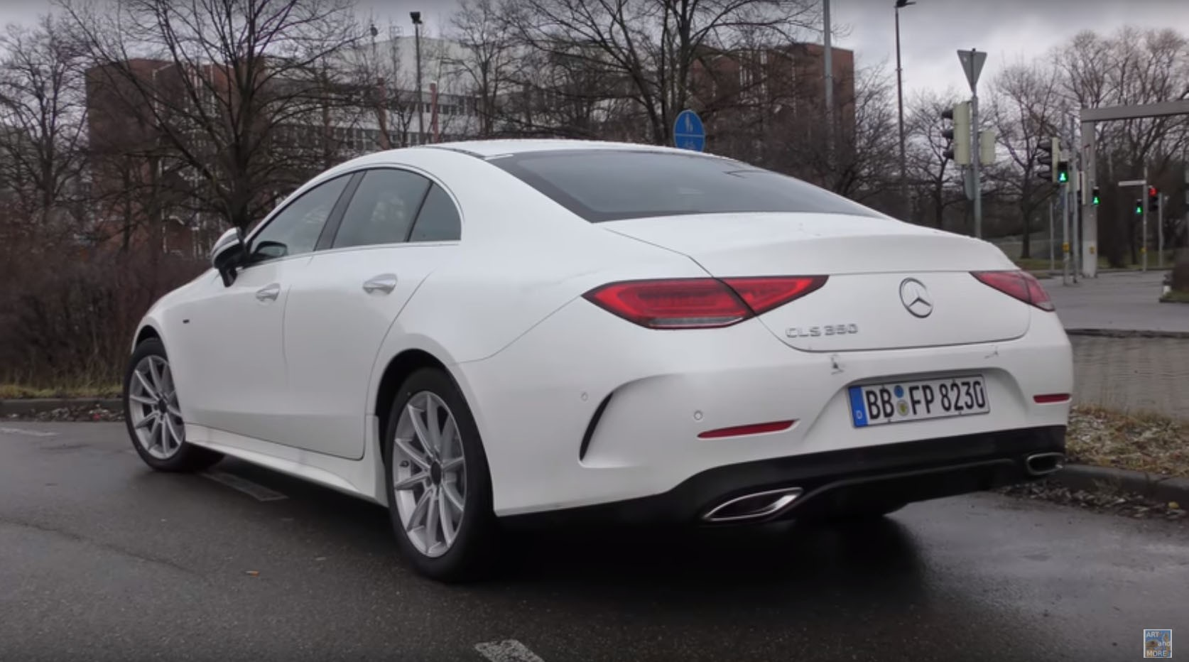 2018 mercedes benz cls 350 looks underwhelming in white