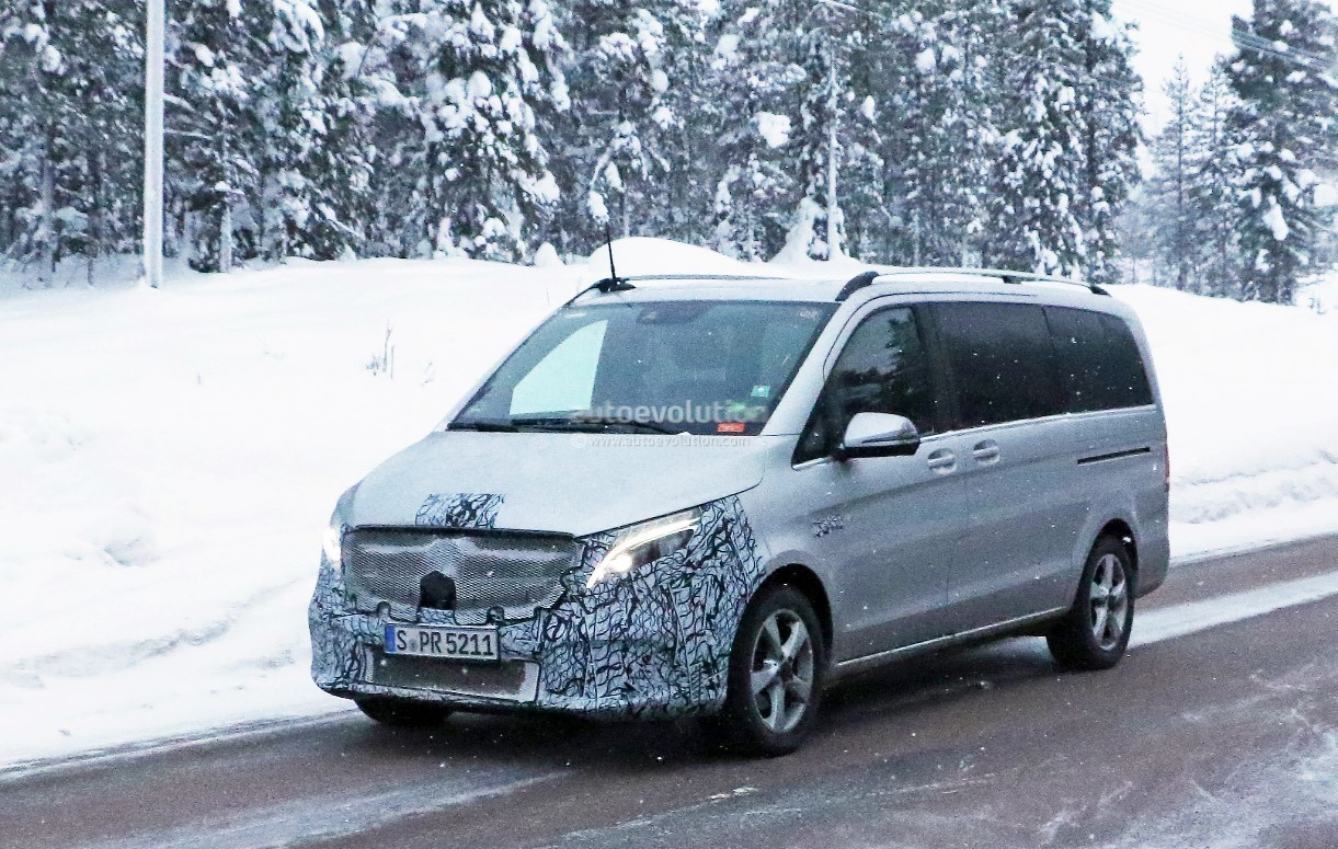 2019 mercedes-benz v-class test mule spied with little camouflage
