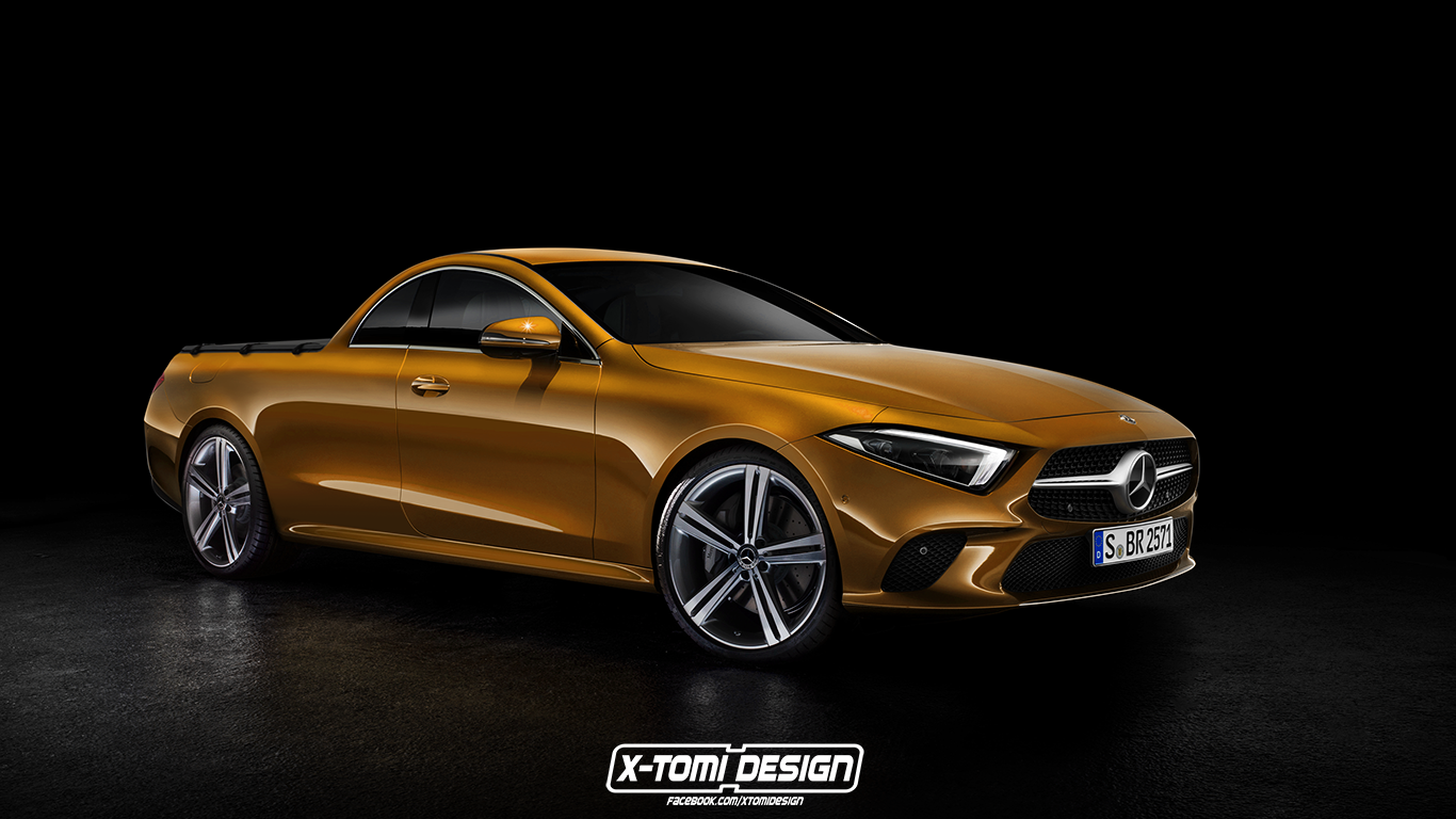 2019 mercedes cls rendered as amg cabriolet coupe and pickup truck autoevolution. Black Bedroom Furniture Sets. Home Design Ideas
