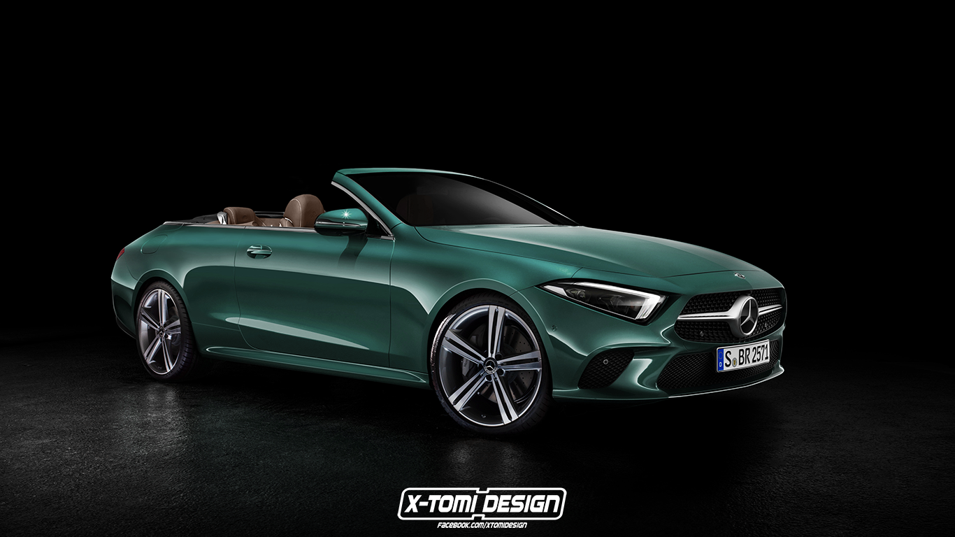 2019 mercedes cls rendered as amg cabriolet coupe and. Black Bedroom Furniture Sets. Home Design Ideas