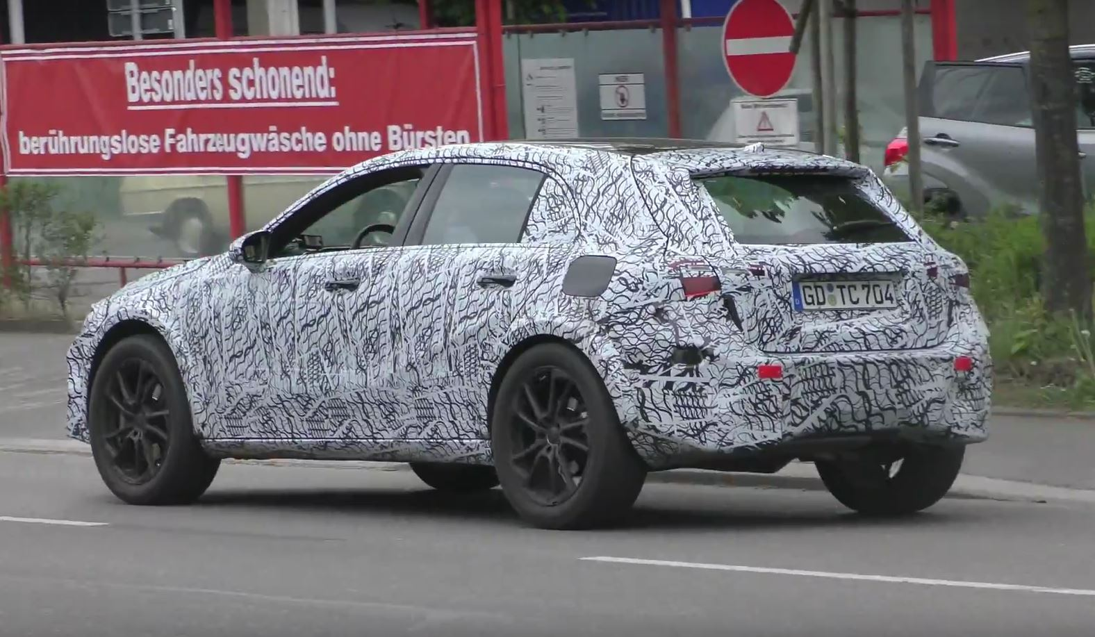 2019 mercedes gla-class spied on the road  looks better than bmw x2