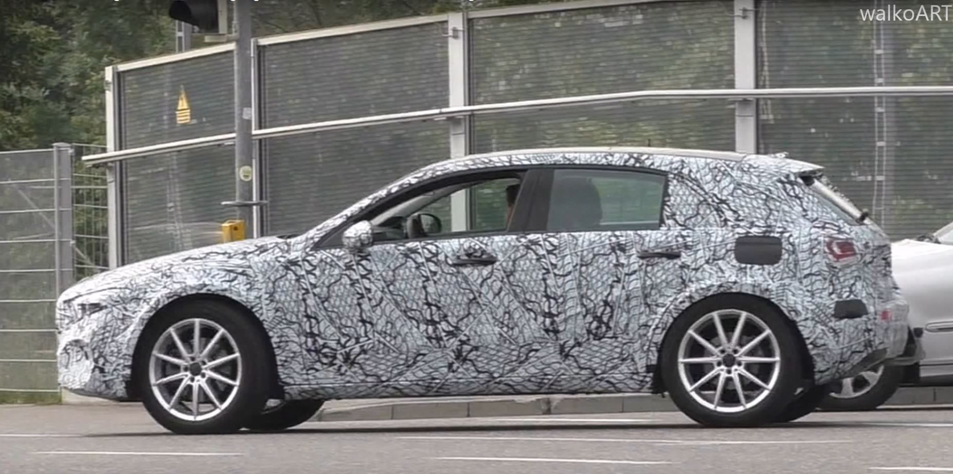 2019 mercedes gla spied with less camo  looks like a-class on stilts
