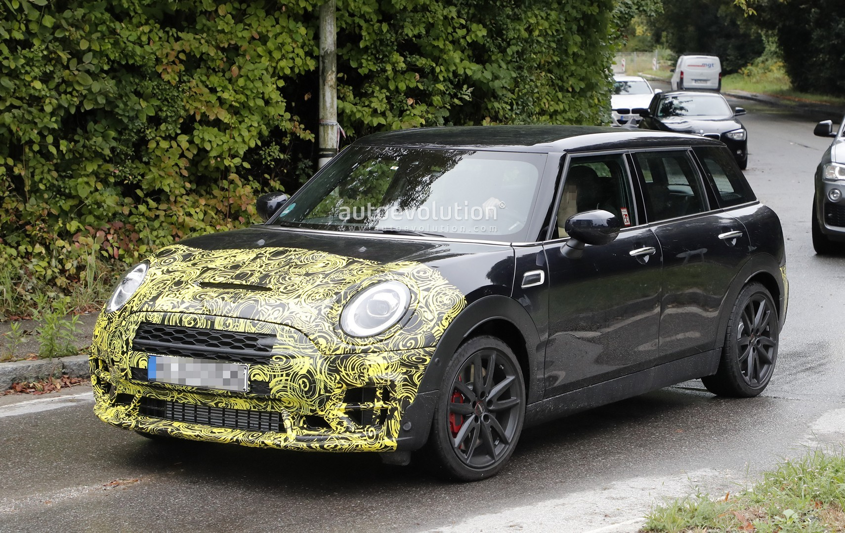 2019 mini clubman jcw spied testing alongside toyota supra. Black Bedroom Furniture Sets. Home Design Ideas