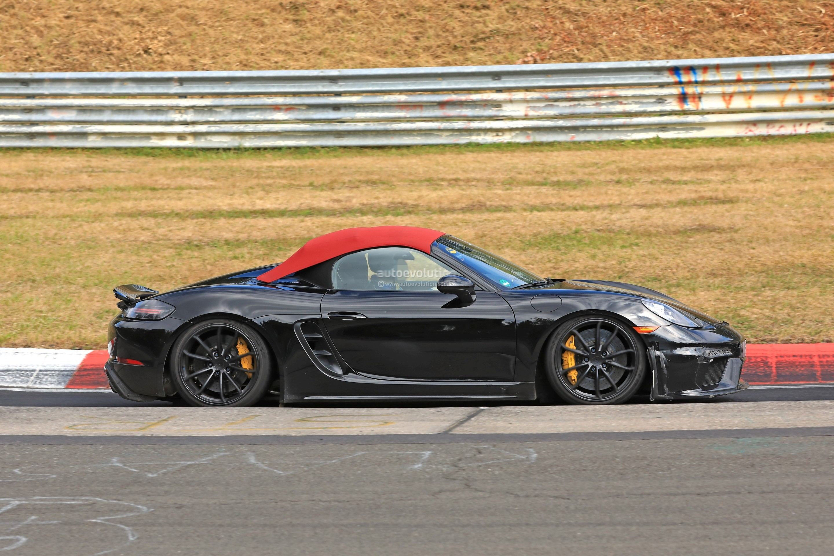 2019 Porsche 718 Boxster Spyder Hits Nurburgring in ...