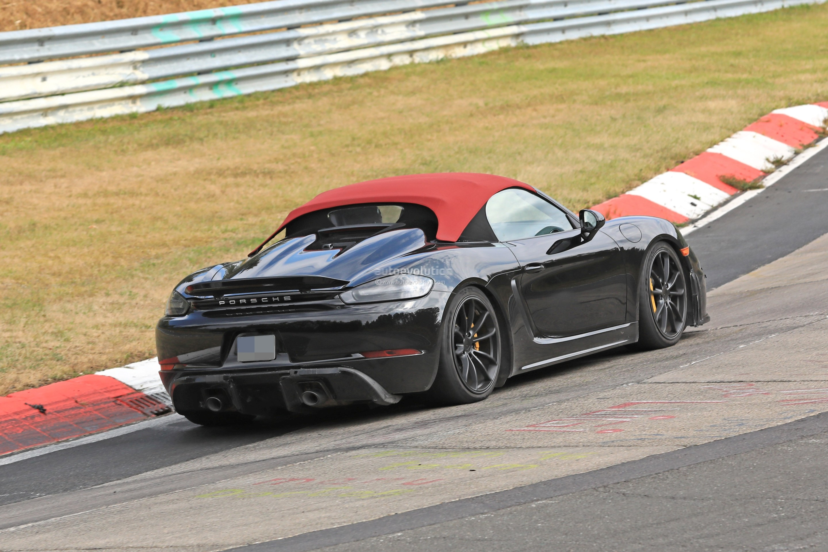 2019 Porsche 718 Boxster Spyder Hits Nurburgring In