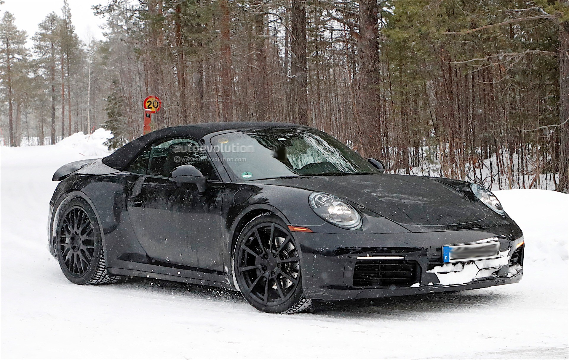 2019 Porsche 911 Cabrio 992 Prototype Spied For The First