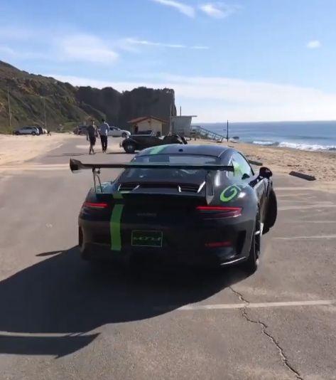 2019 Porsche 911 GT3 RS Drifts Into A Pile Of Sand, Driver