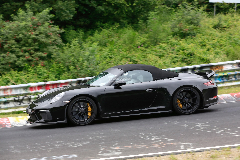 2019 porsche 911 speedster shows up at nurburgring looks like a jewel autoevolution. Black Bedroom Furniture Sets. Home Design Ideas
