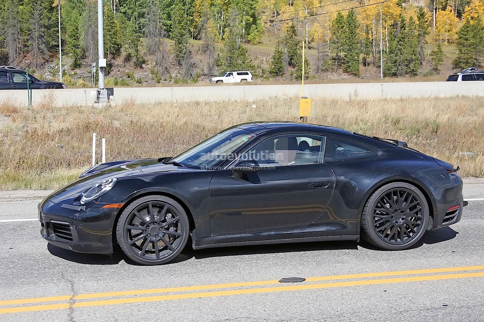 2019 porsche 911 spied at nurburgring gets closer to production autoevolution. Black Bedroom Furniture Sets. Home Design Ideas