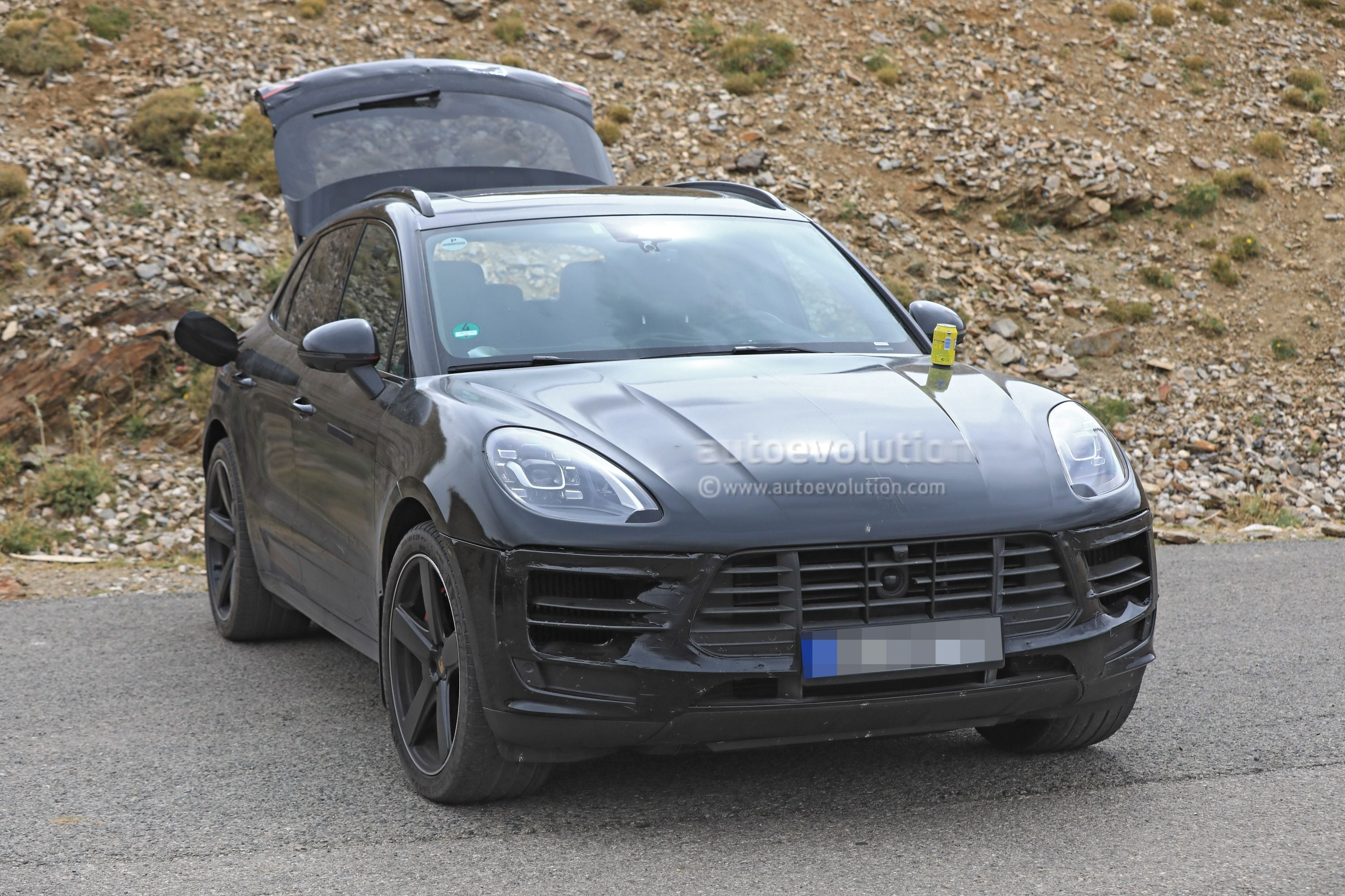Spyshots 2019 Porsche Macan Prototype Poses For The