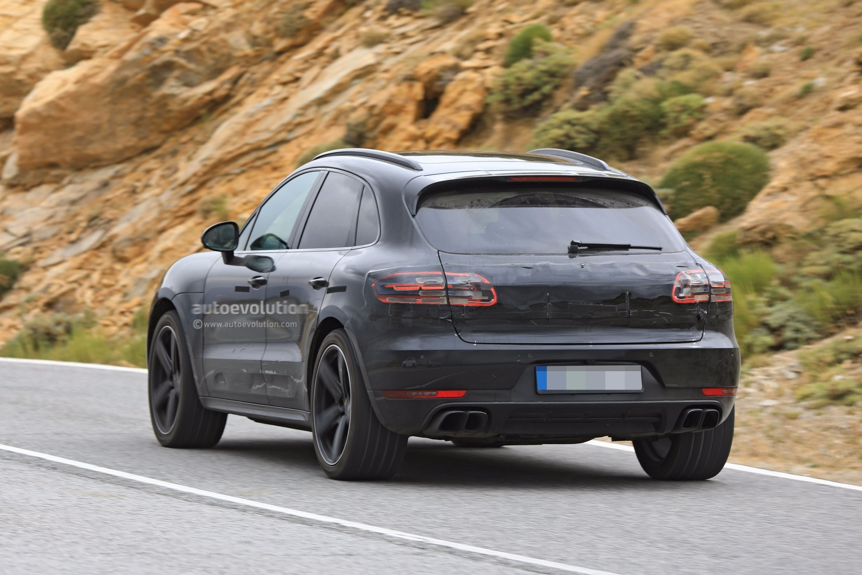 Spyshots 2019 Porsche Macan Prototype Poses For The Camera