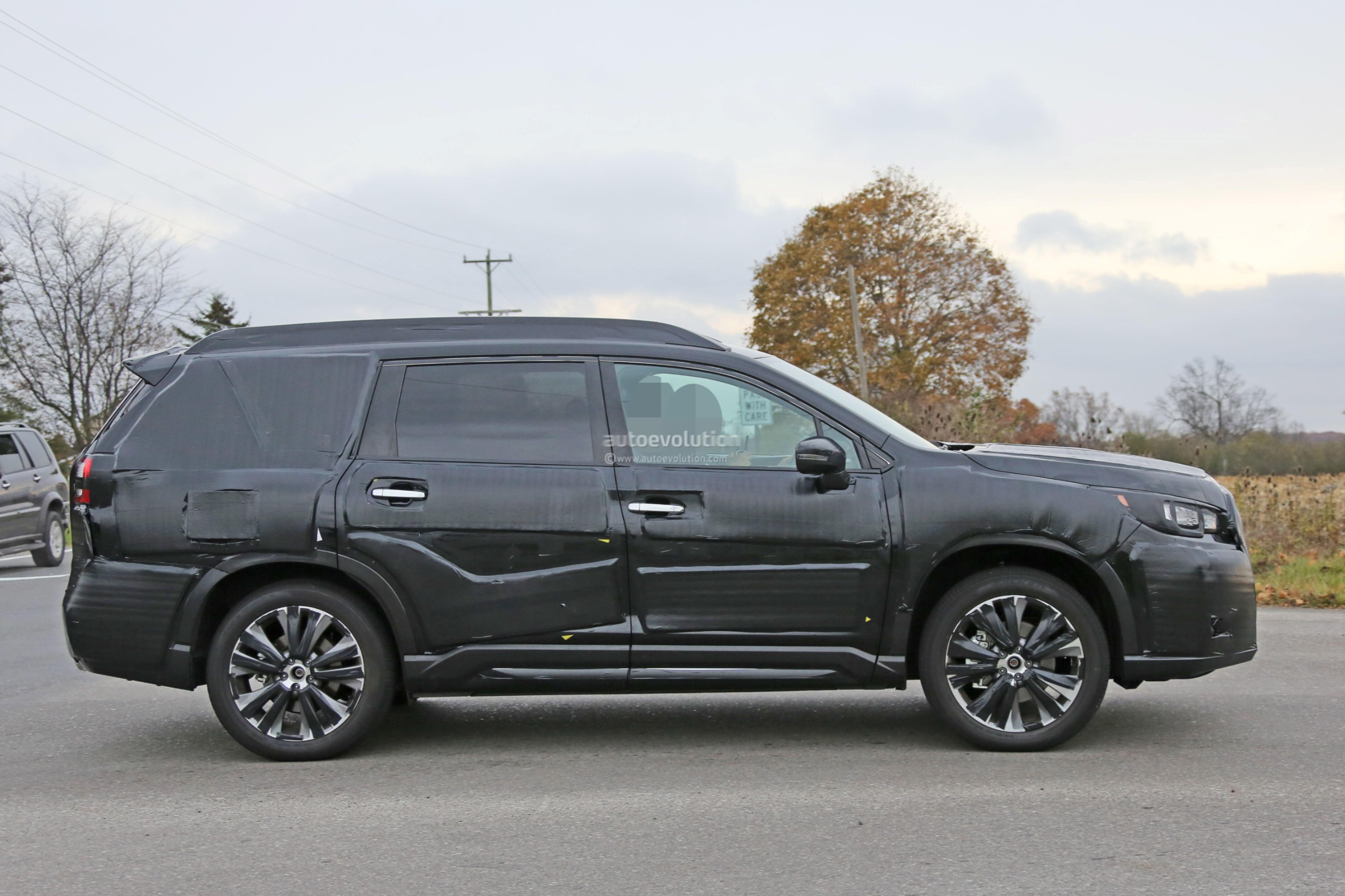 Spyshots: 2019 Subaru Ascent Rolls With Chrysler Pacifica ...