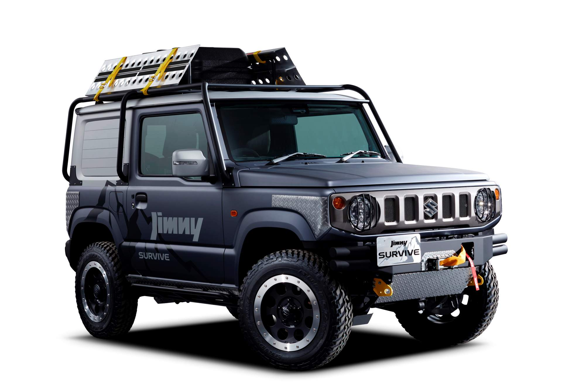 2019 suzuki jimny turned into pickup truck for tokyo auto. Black Bedroom Furniture Sets. Home Design Ideas