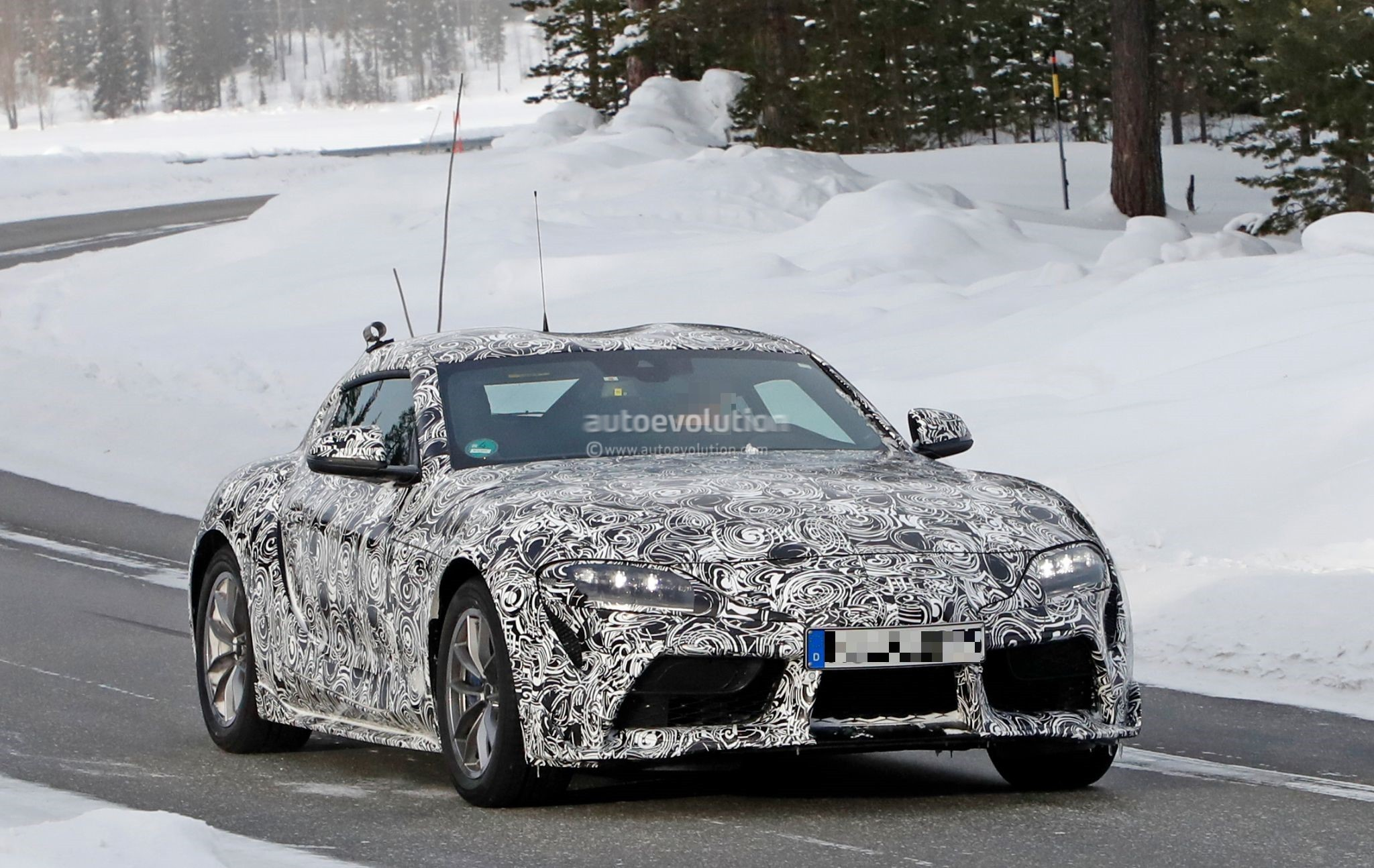 2019 Toyota Supra Spied With Formula 1 Influenced Led Fog