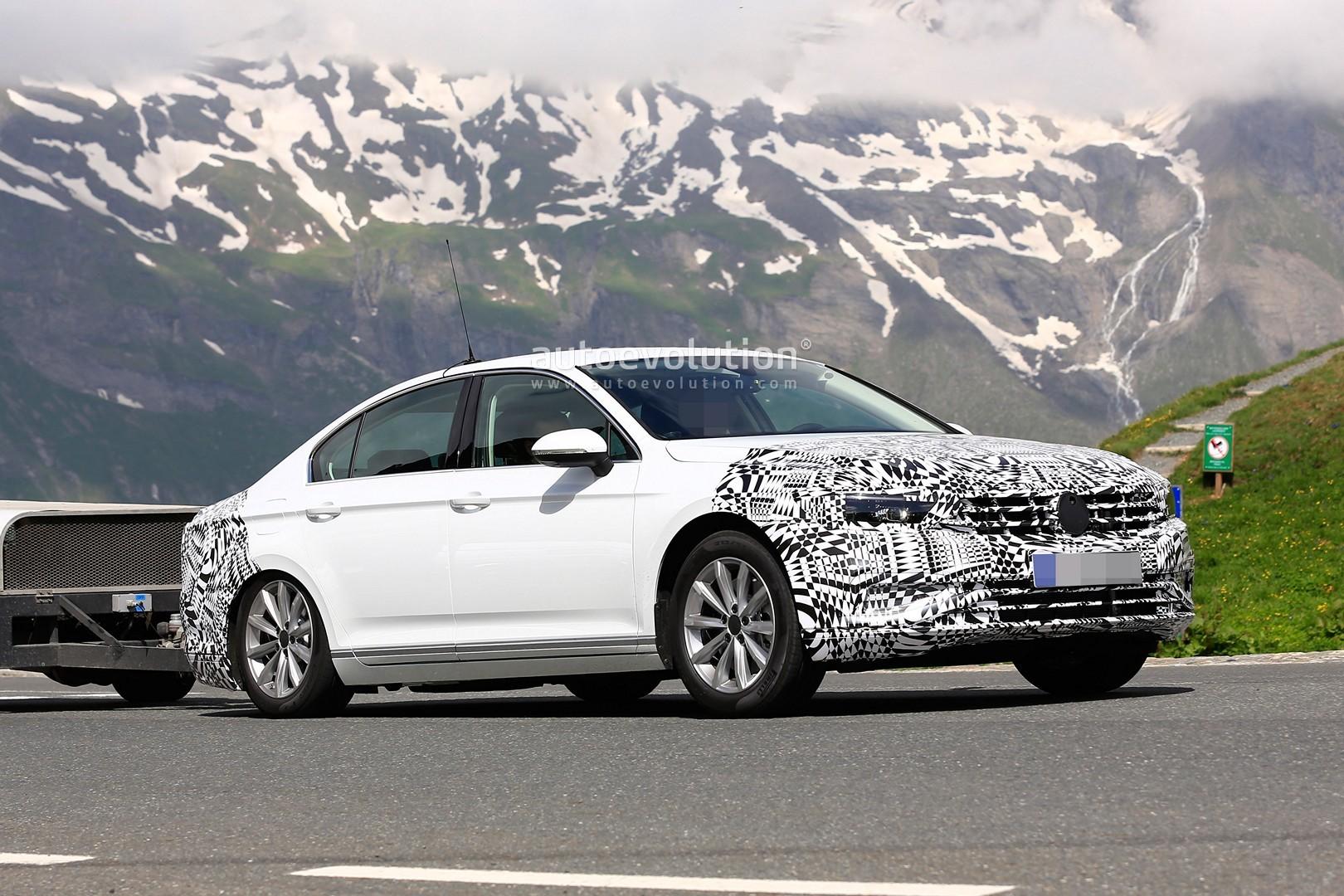 2019 Volkswagen Passat Facelift Spied, Prototype is Plug ...