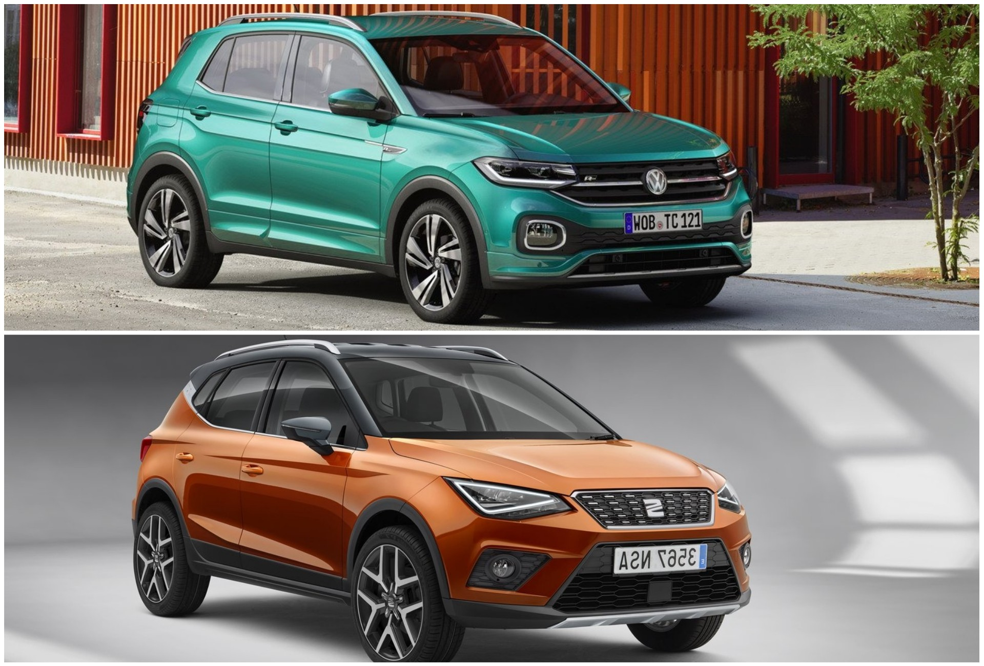 2019 vw t cross vs seat arona photo comparison. Black Bedroom Furniture Sets. Home Design Ideas
