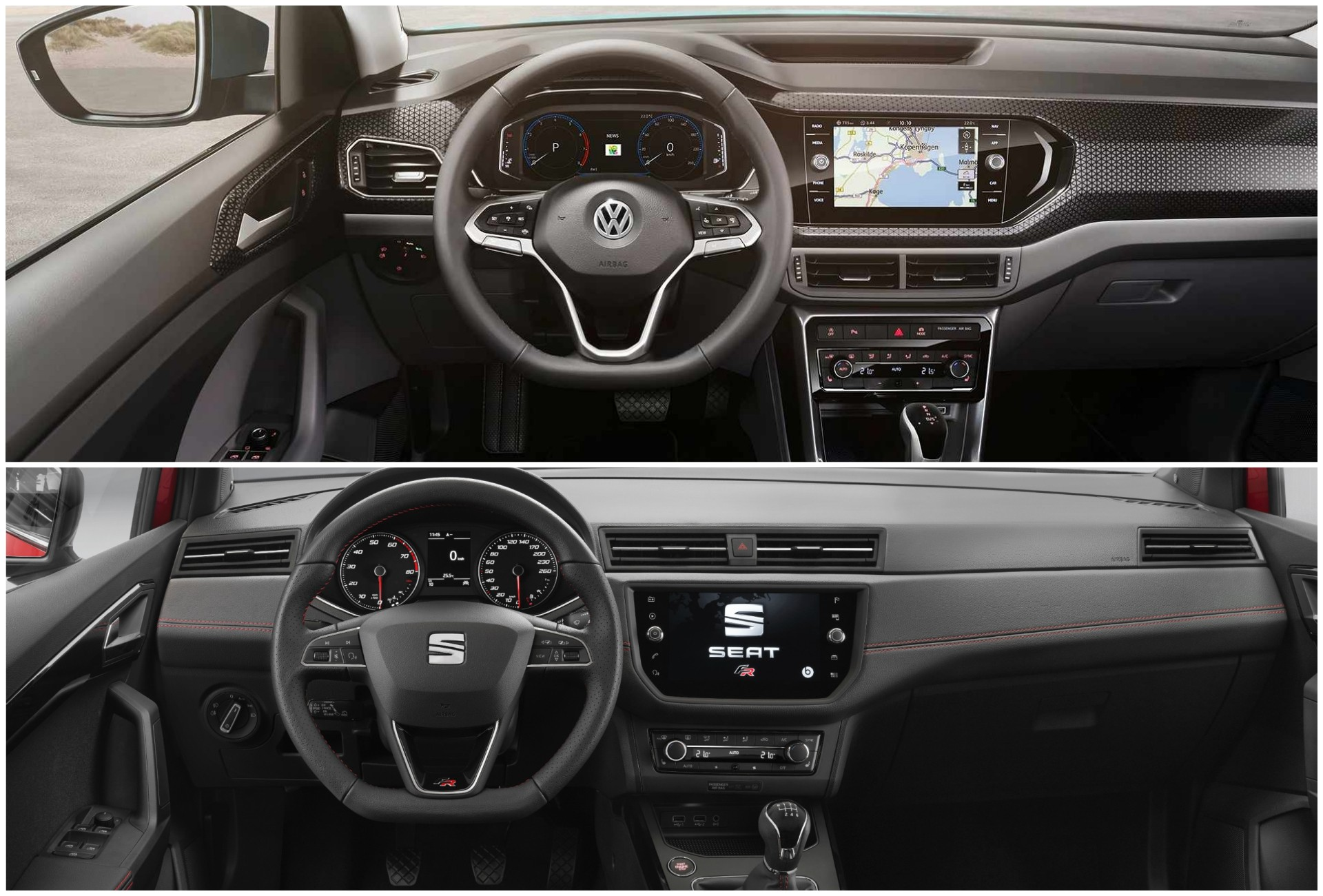 2019 VW T-Cross vs. SEAT Arona Photo Comparison ...