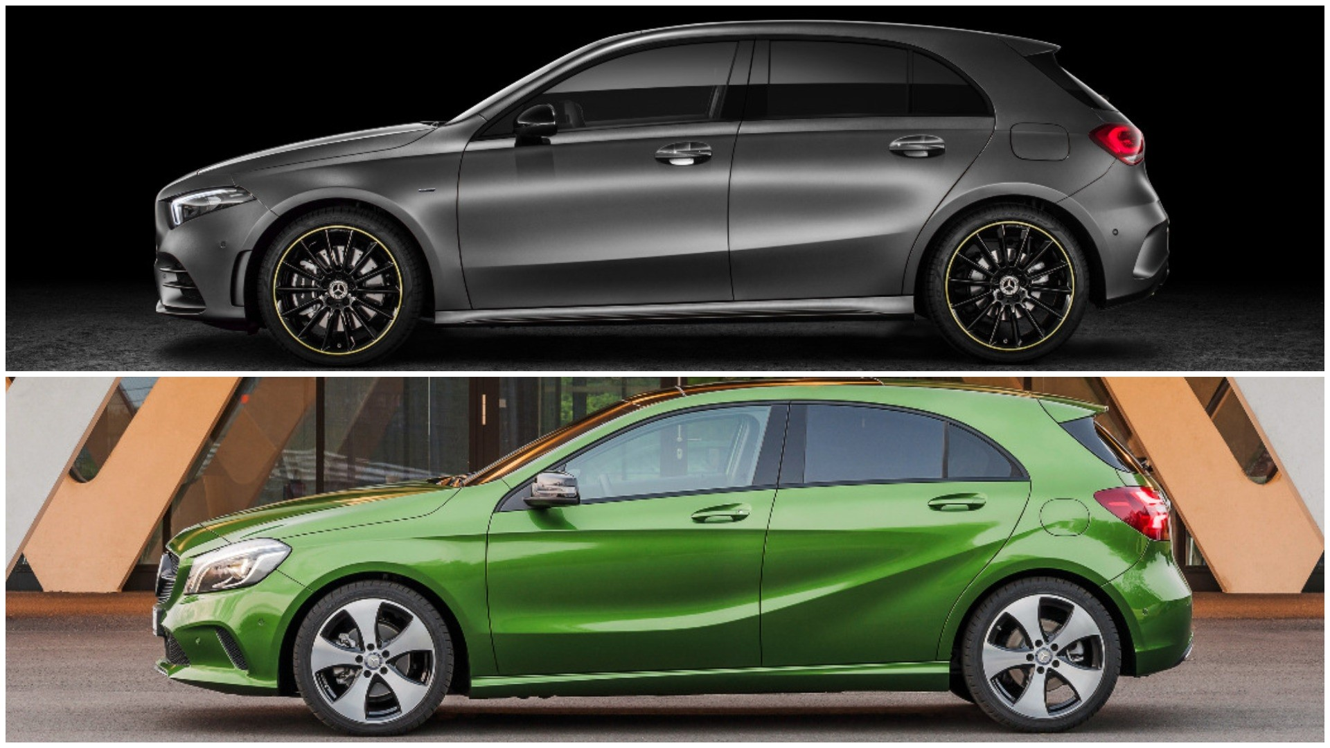 Photo Comparison 2019 W177 Mercedes A Class Vs Old W176 A