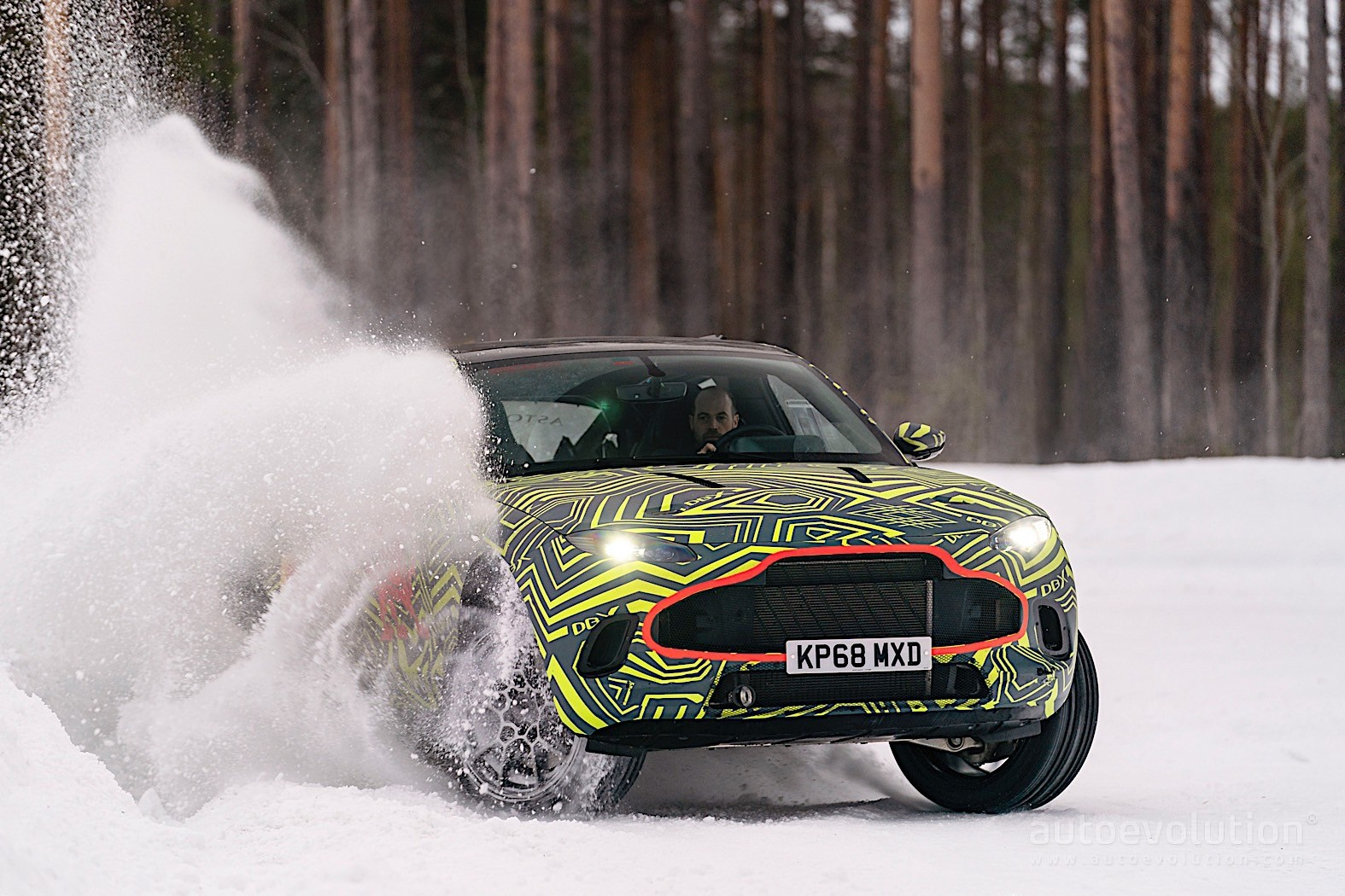 2020 Aston Martin Dbx Shown Drifting On Snow In Official Clip Autoevolution
