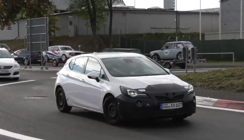2020 Astra Facelift Spied At The Nurburgring Progress Is Slow