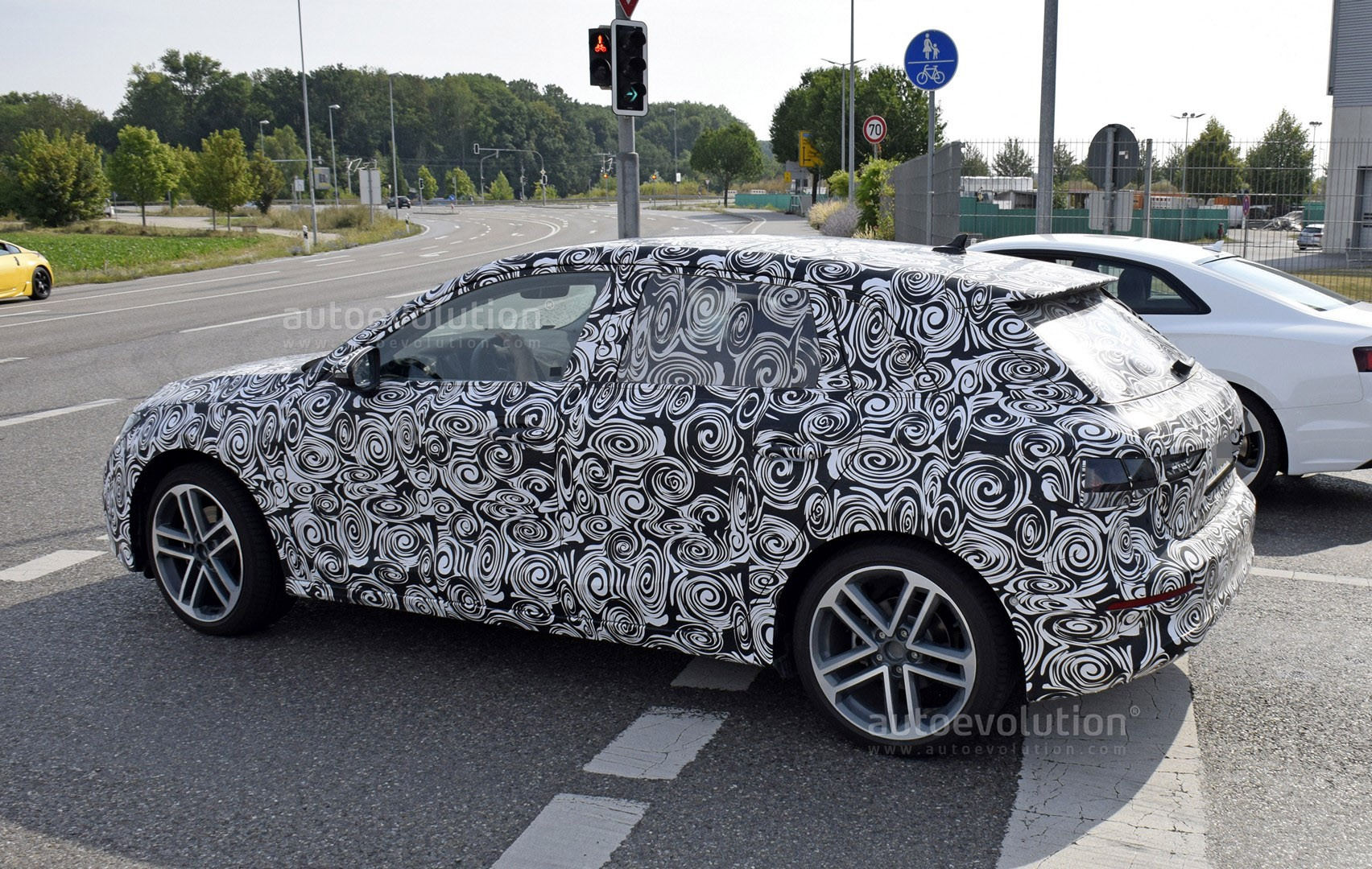2020 Audi A3 Shows Huge Hexagonal Grille On Long Nose Autoevolution