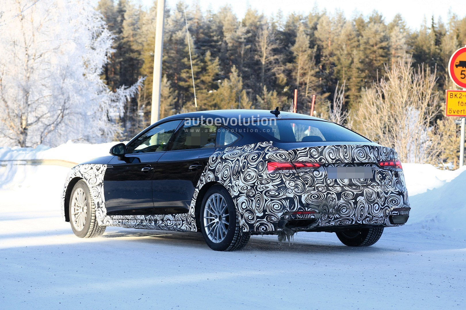 2020 audi a5 sportback spied with new lights, is going