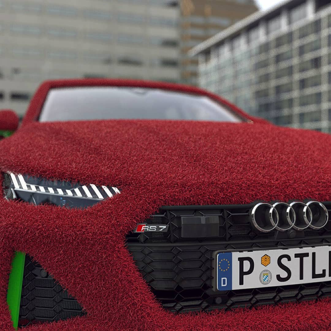 2020 Audi RS7 Furry Wrap Is The Cookie Monster