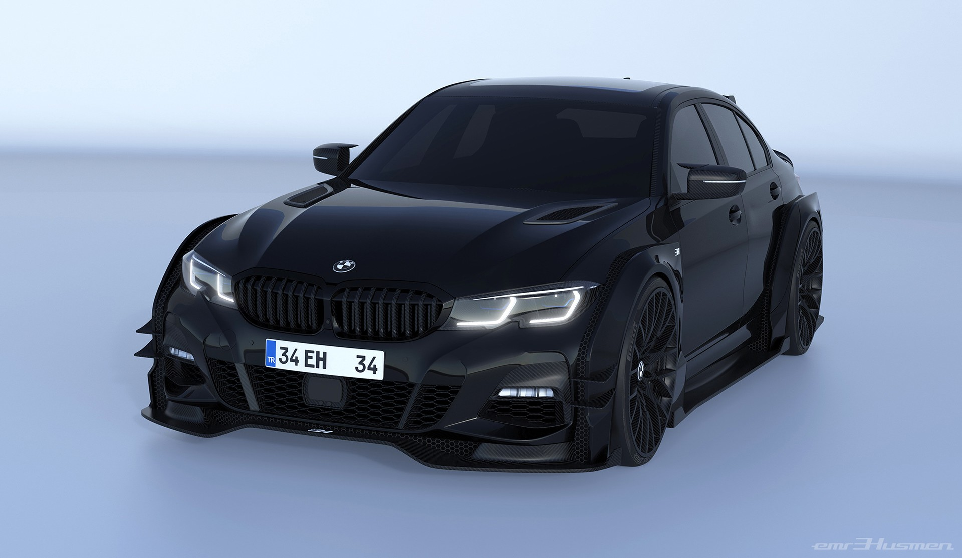 2020 Bmw 3 Series Rendered With Race Car Concept Kit Autoevolution