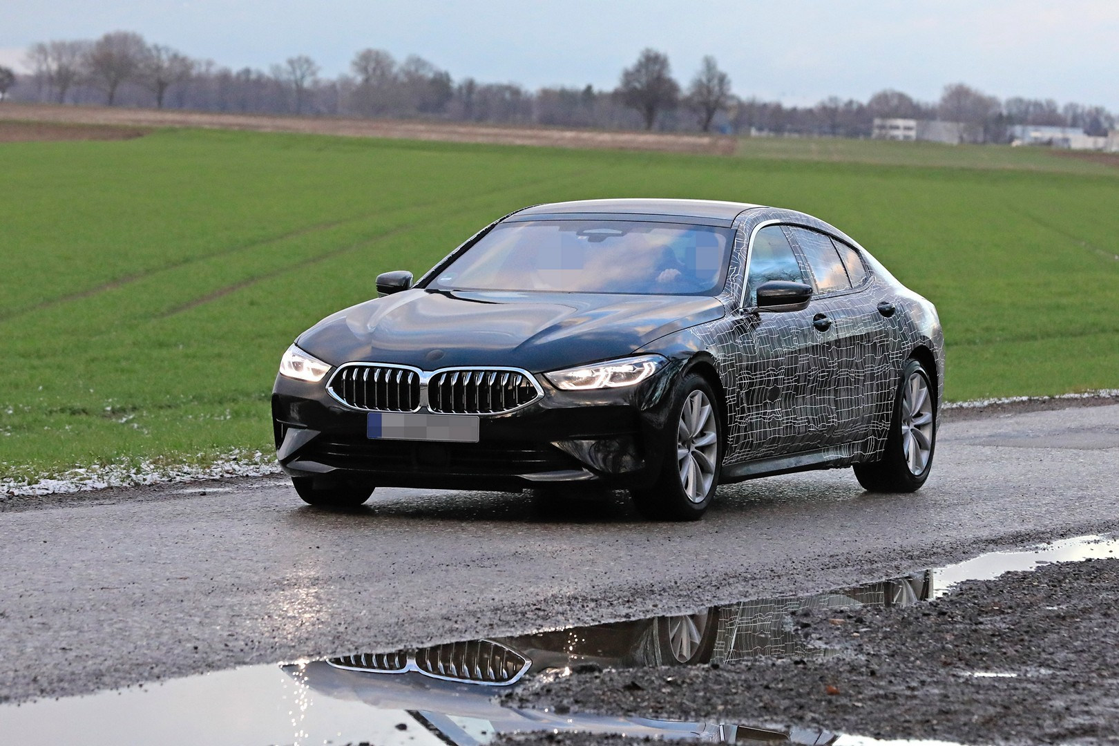 2020 bmw 8 series gran coupe looks boring in latest spyshots autoevolution. Black Bedroom Furniture Sets. Home Design Ideas