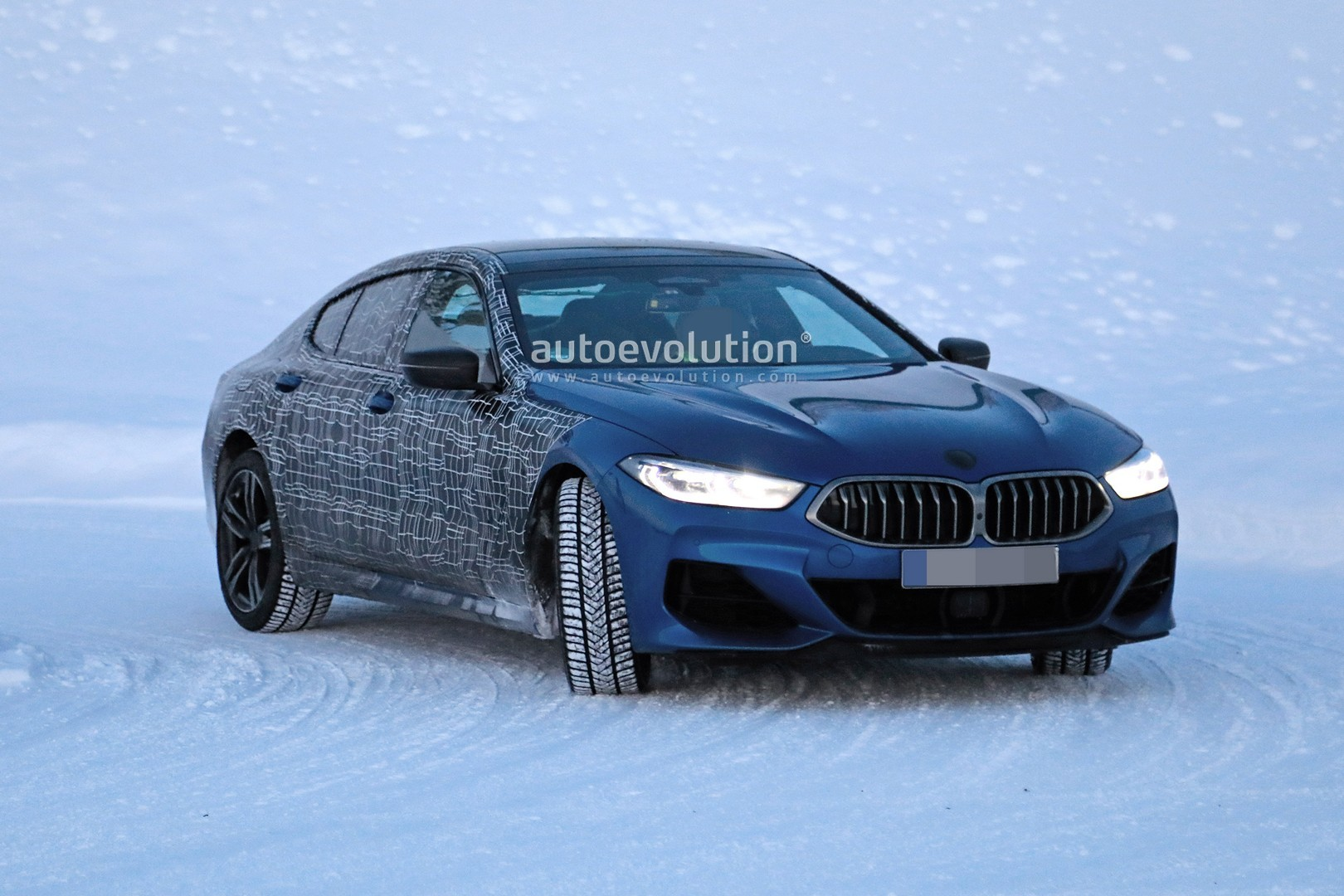 2020 Bmw 8 Series Gran Coupe Spied Undergoing Winter