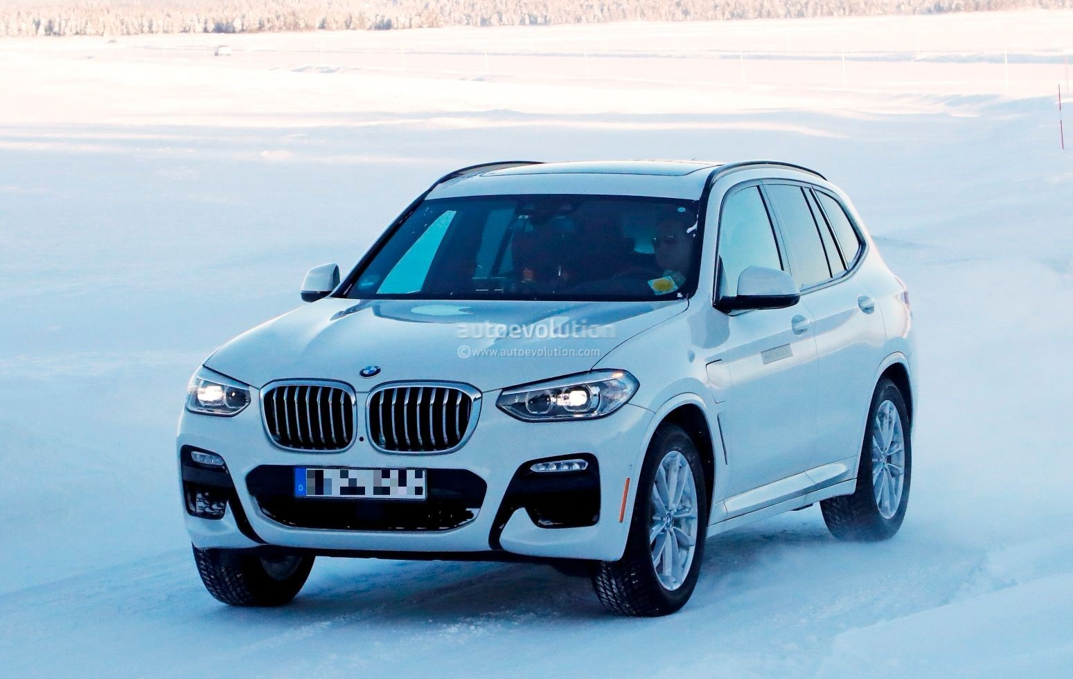 2020 bmw ix3 and x3 phev spied cold weather testing autoevolution. Black Bedroom Furniture Sets. Home Design Ideas