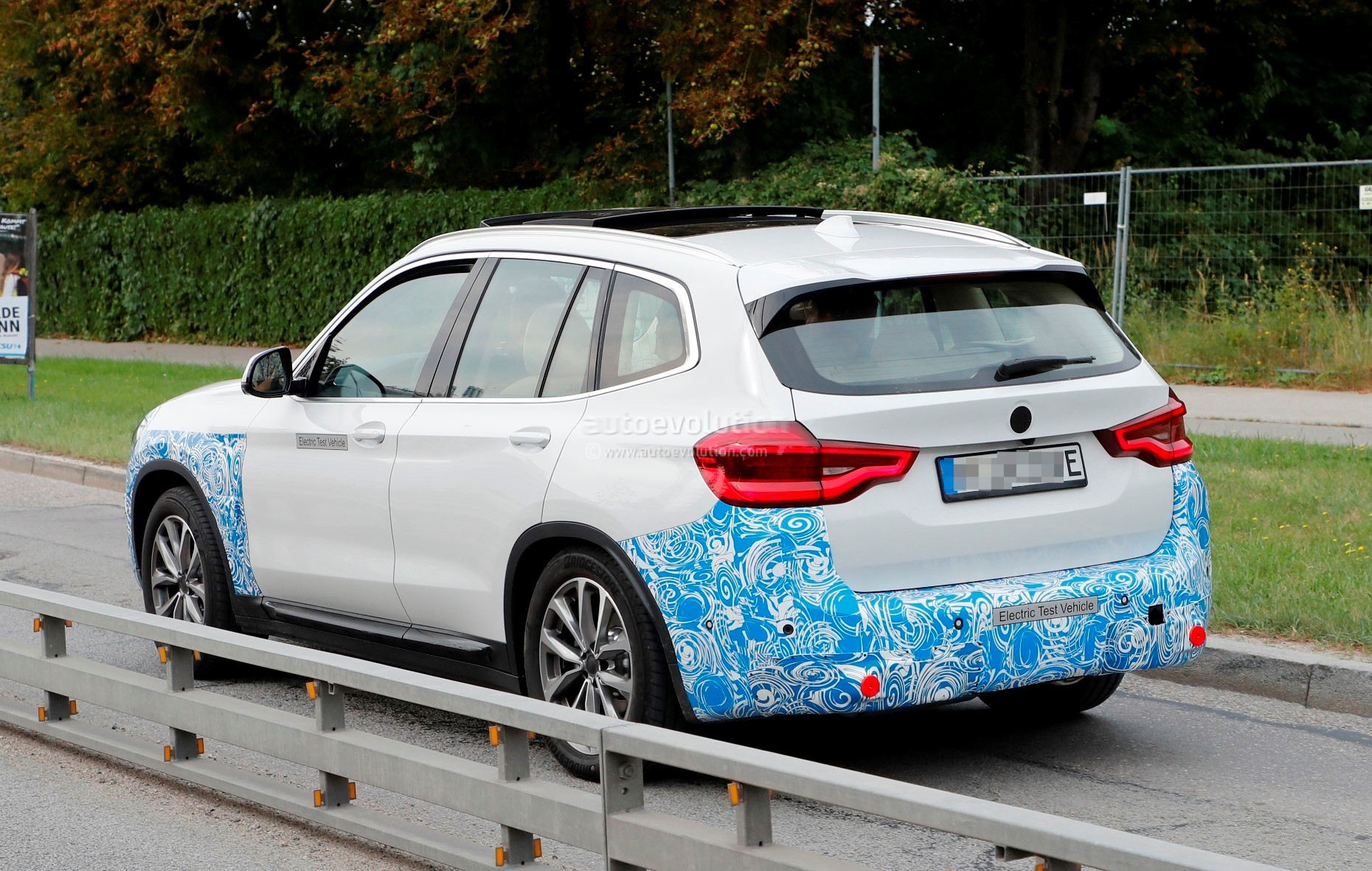 2020 bmw ix3 electric suv spied flaunting yellow wiring  obscured camera