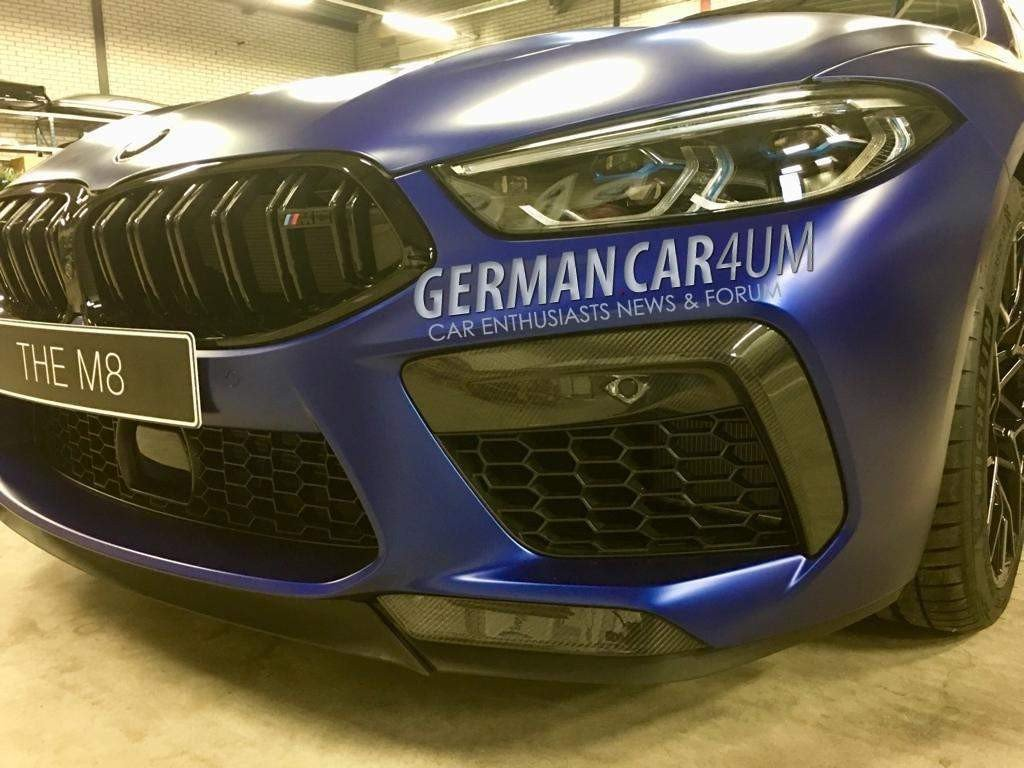 2020 bmw m8 competition shown in full frozen blue glory