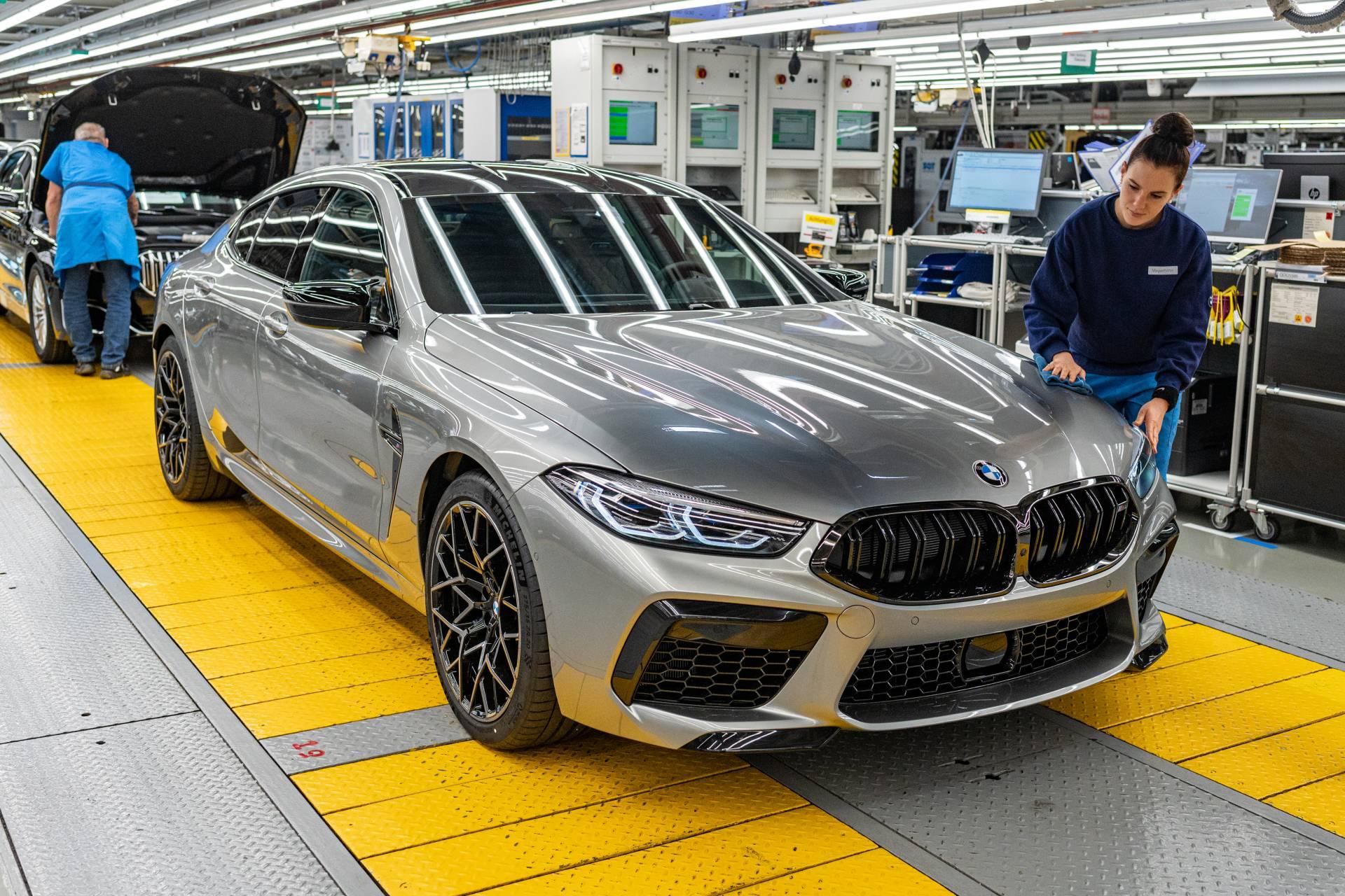 2020 Bmw M8 Gran Coupe Enters Production Ahead Of La Auto Show Premiere Autoevolution