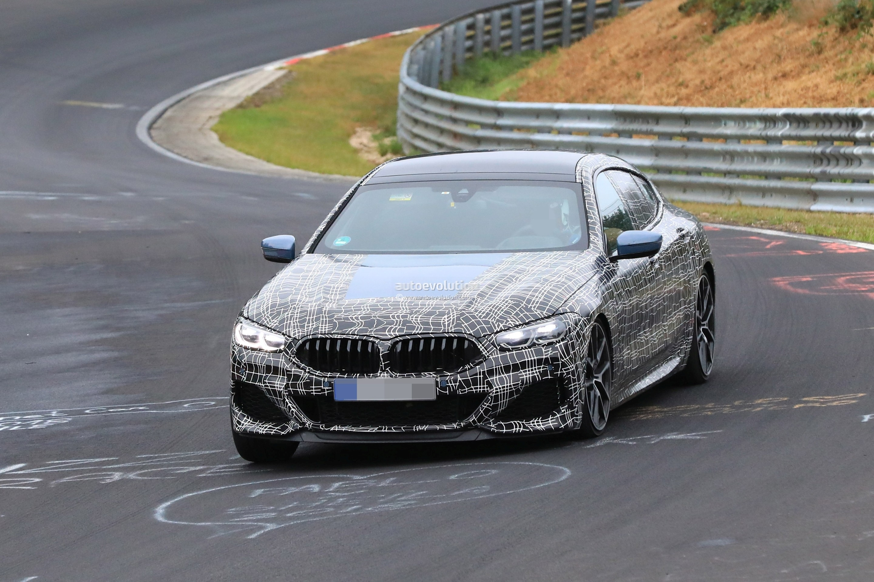 2020 bmw m850i gran coupe hits nurburgring  out for mercedes-amg gt 4-door blood